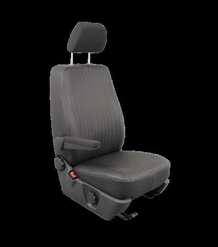 - Opel Vivaro pasvormhoes t.b.v. voorstoel. - rechter stoel - zwarte kunstlederen hoes - zonder airbag - met originele armle